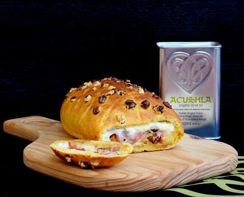 Pão de Abóbora Recheado