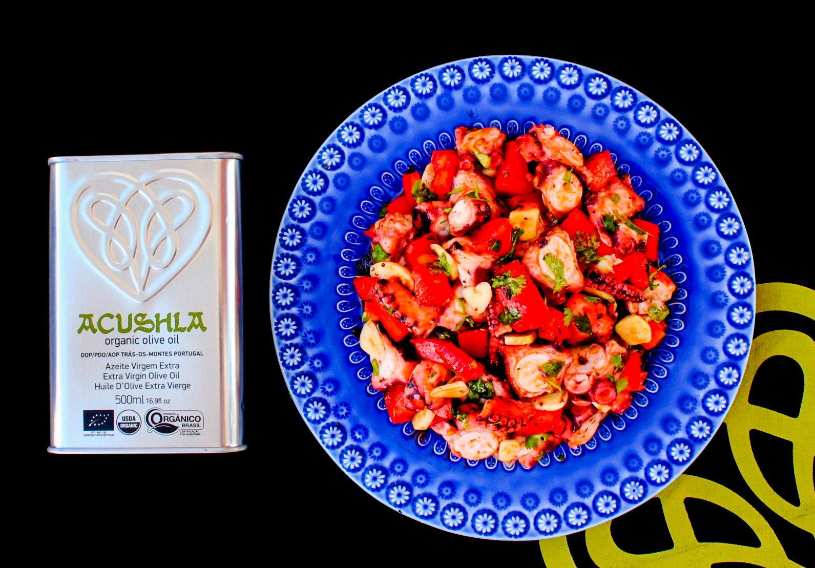 Salada de Polvo com Tomates e Coentros