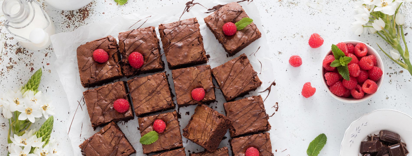 Receita de Brownie de Framboesa